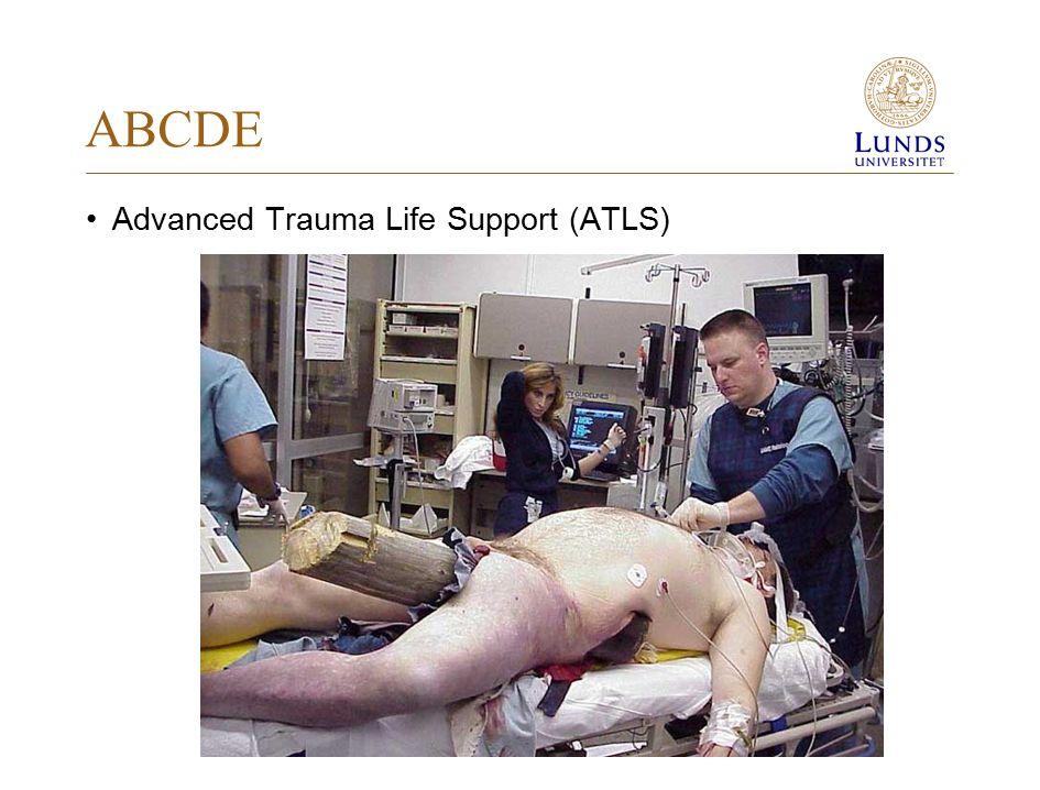 ABCDE Advanced Trauma Life Support (ATLS) 1976