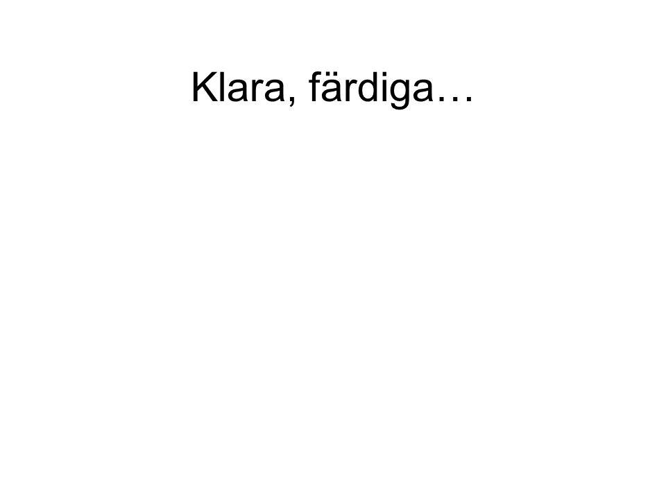 Klara, färdiga…