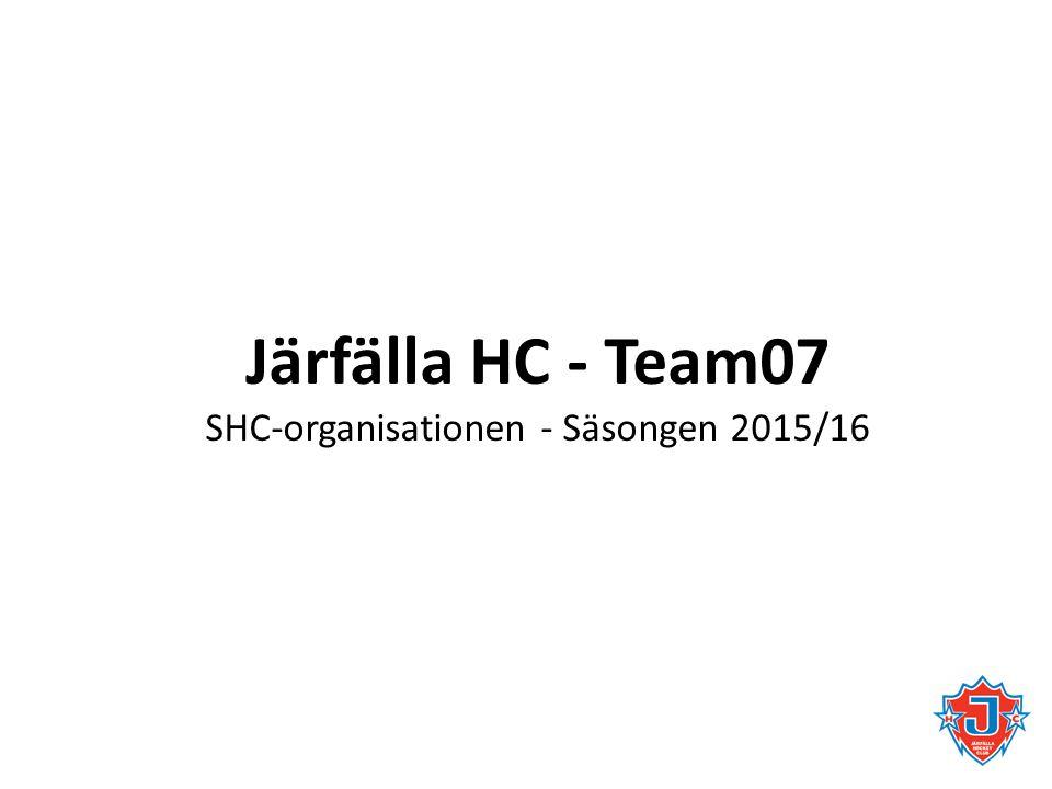 SHC-organisationen - Säsongen 2015/16