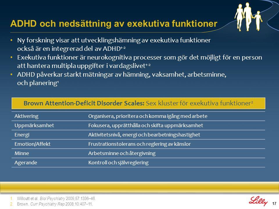 ADHD och nedsättning av exekutiva funktioner