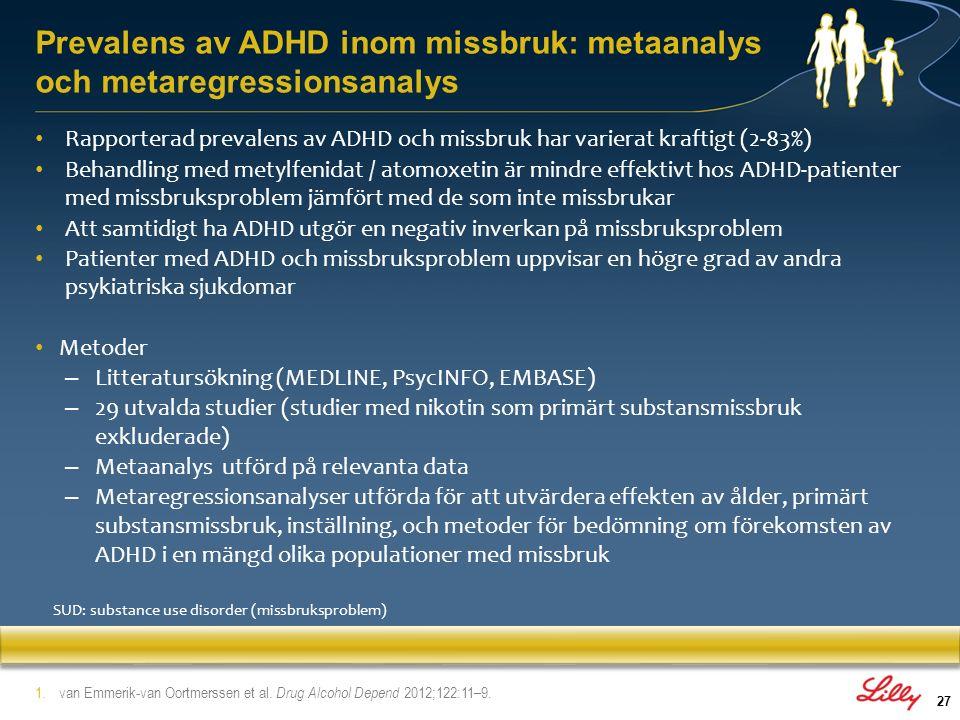 Prevalens av ADHD inom missbruk: metaanalys och metaregressionsanalys