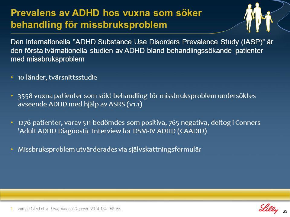 Prevalens av ADHD hos vuxna som söker behandling för missbruksproblem