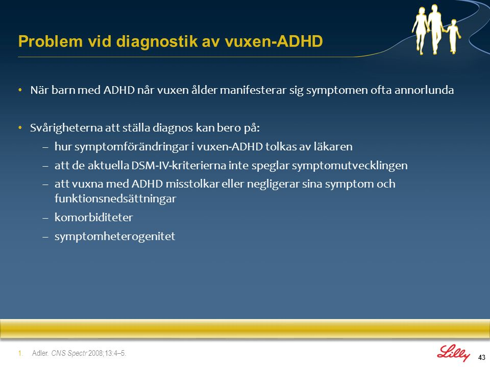 Problem vid diagnostik av vuxen-ADHD
