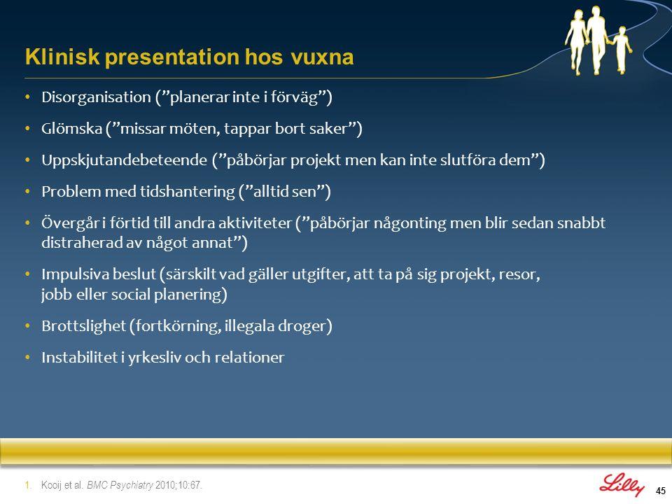 Klinisk presentation hos vuxna