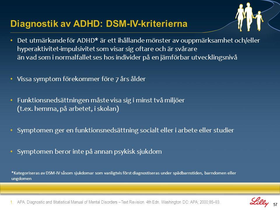 Diagnostik av ADHD: DSM-IV-kriterierna