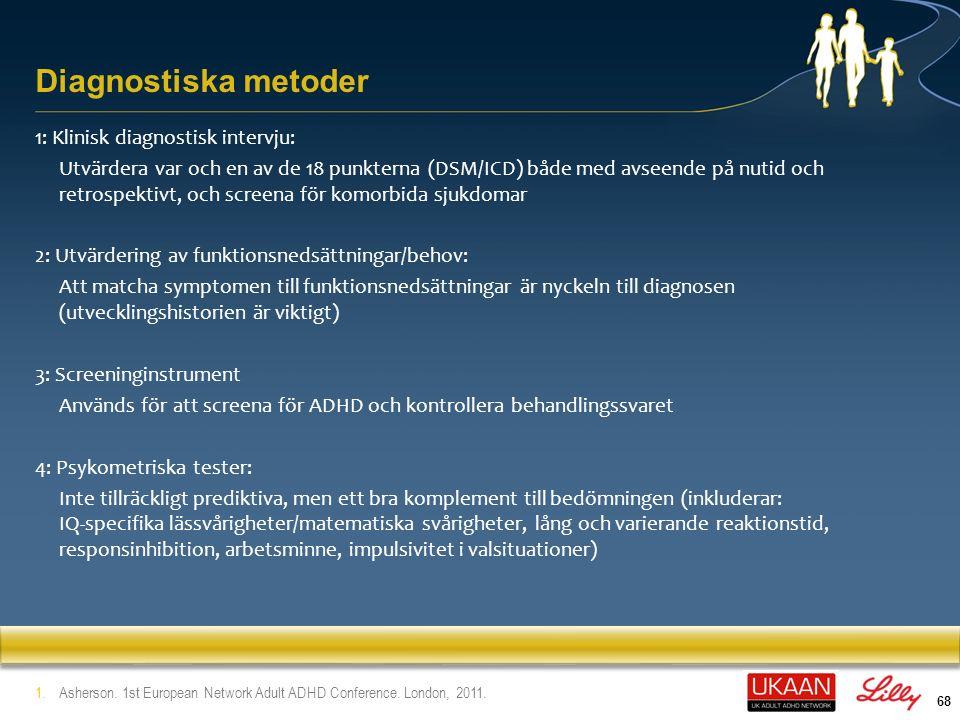 Diagnostiska metoder 1: Klinisk diagnostisk intervju:
