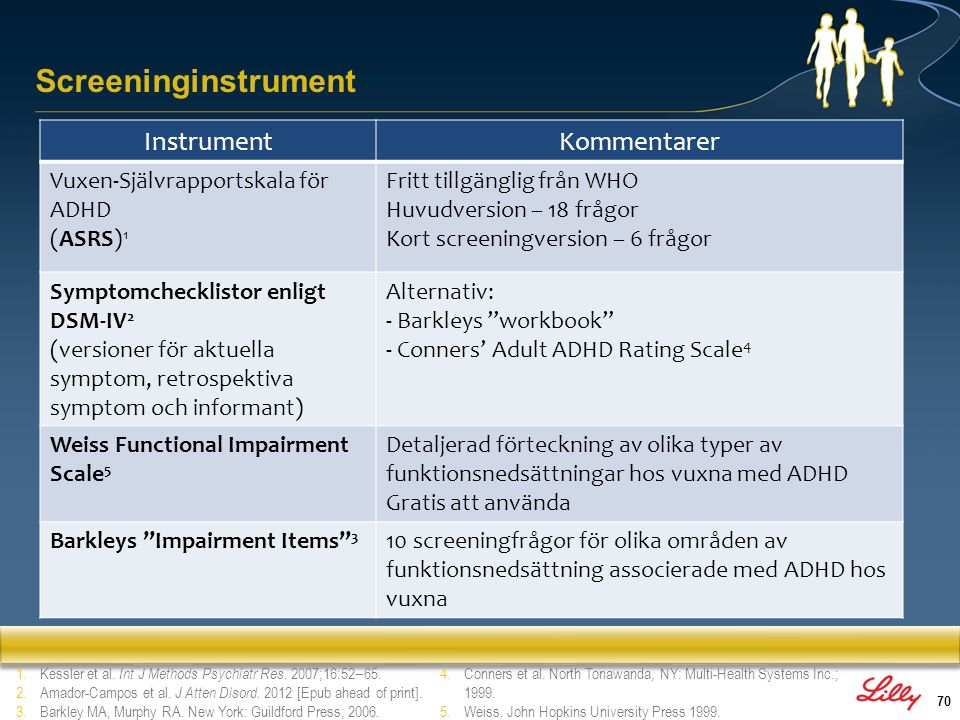 Screeninginstrument Instrument Kommentarer
