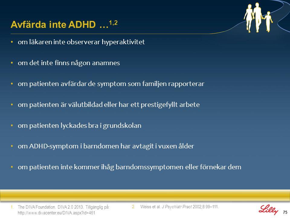 Avfärda inte ADHD …1,2 om läkaren inte observerar hyperaktivitet