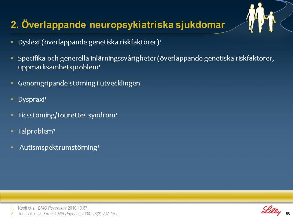 2. Överlappande neuropsykiatriska sjukdomar