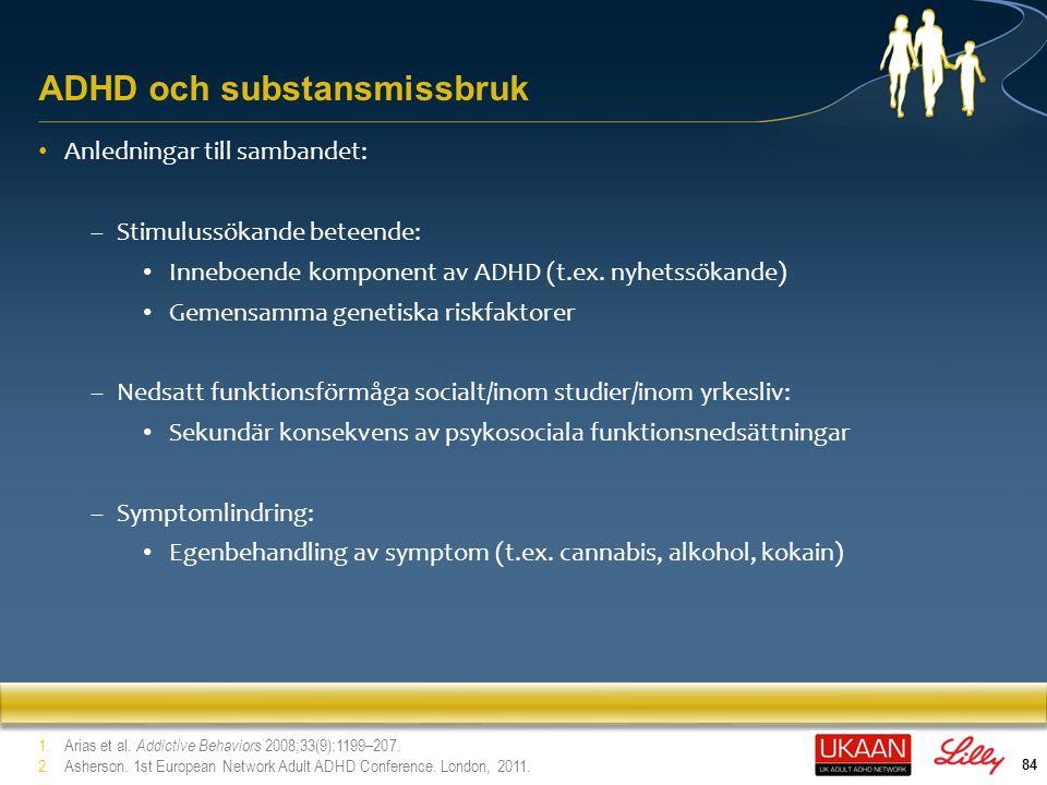 ADHD och substansmissbruk