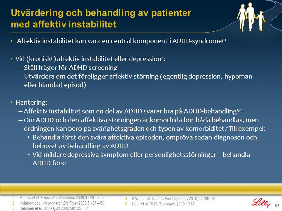 Utvärdering och behandling av patienter med affektiv instabilitet
