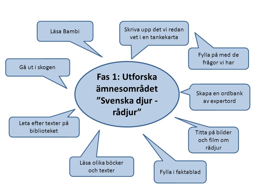 Fas 1: Utforska ämnesområdet Svenska djur - rådjur