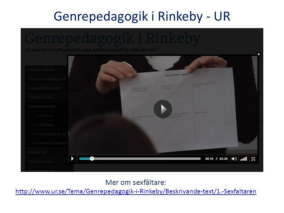 Genrepedagogik i Rinkeby - UR
