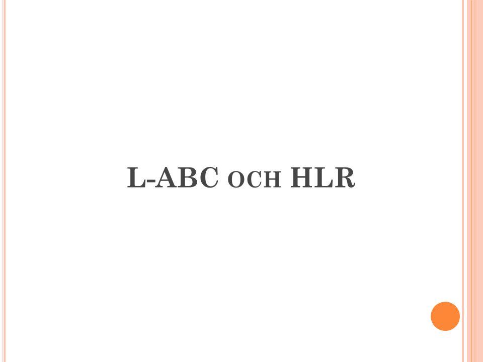 L-ABC och HLR 1