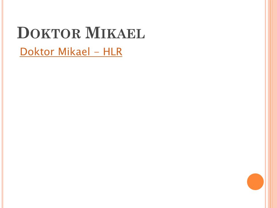 Doktor Mikael Doktor Mikael - HLR 15
