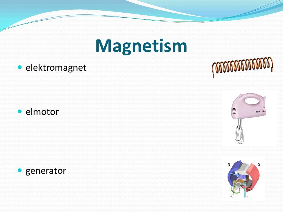 Magnetism elektromagnet elmotor generator