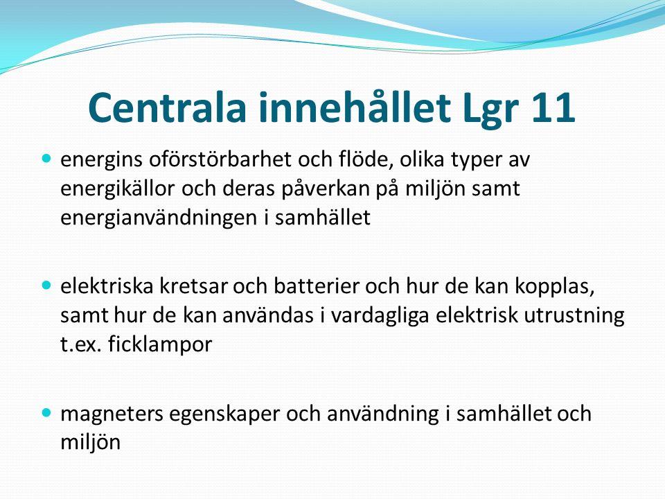 Centrala innehållet Lgr 11