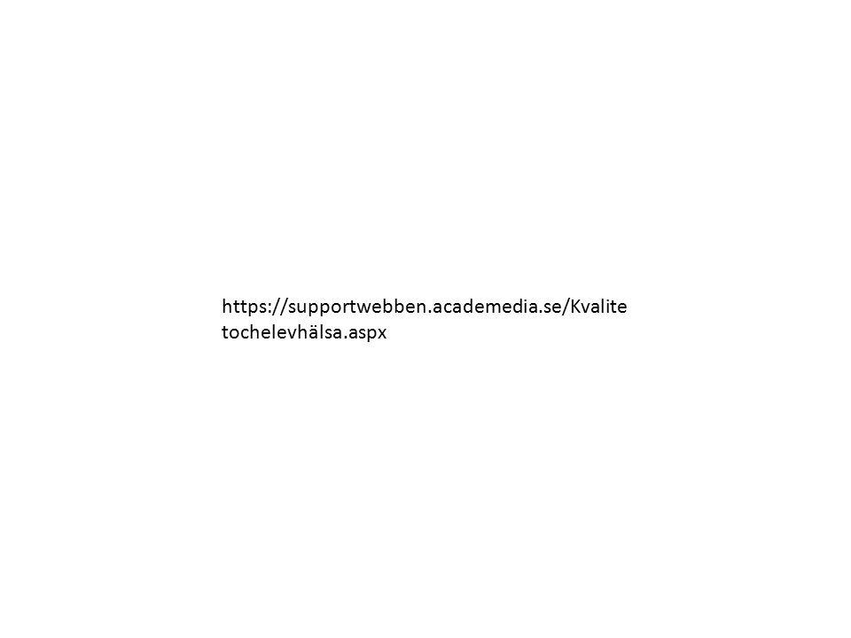 https://supportwebben.academedia.se/Kvalitetochelevhälsa.aspx