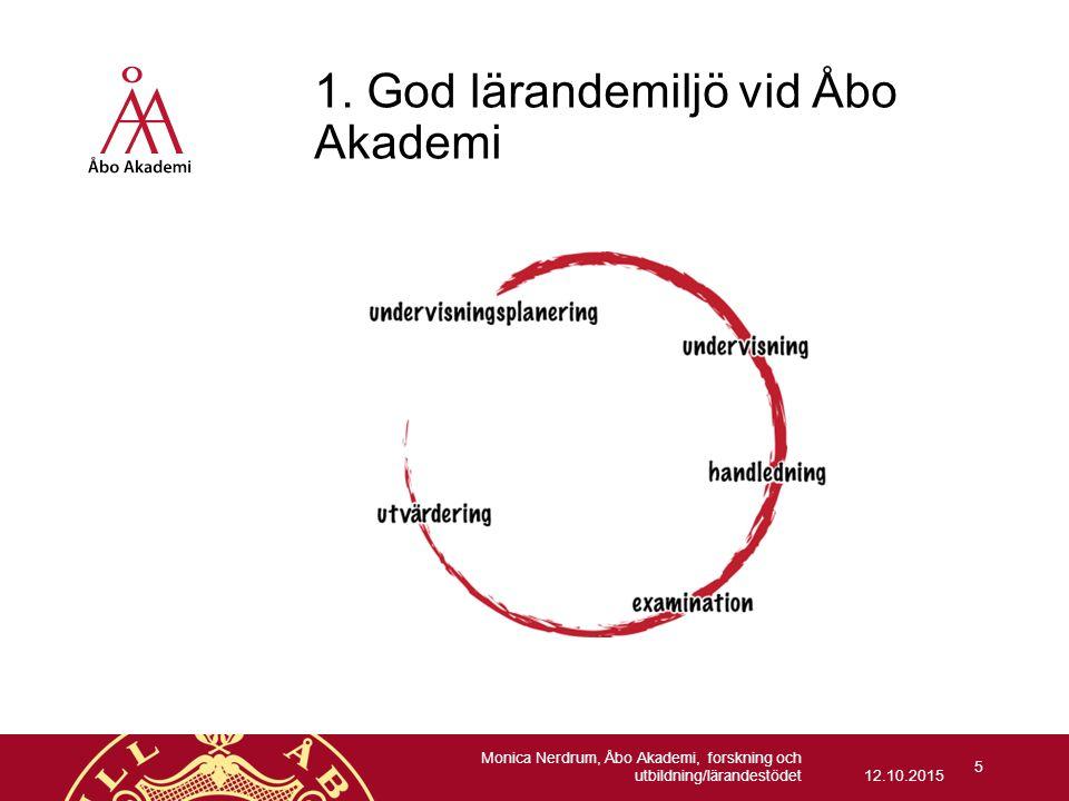 1. God lärandemiljö vid Åbo Akademi