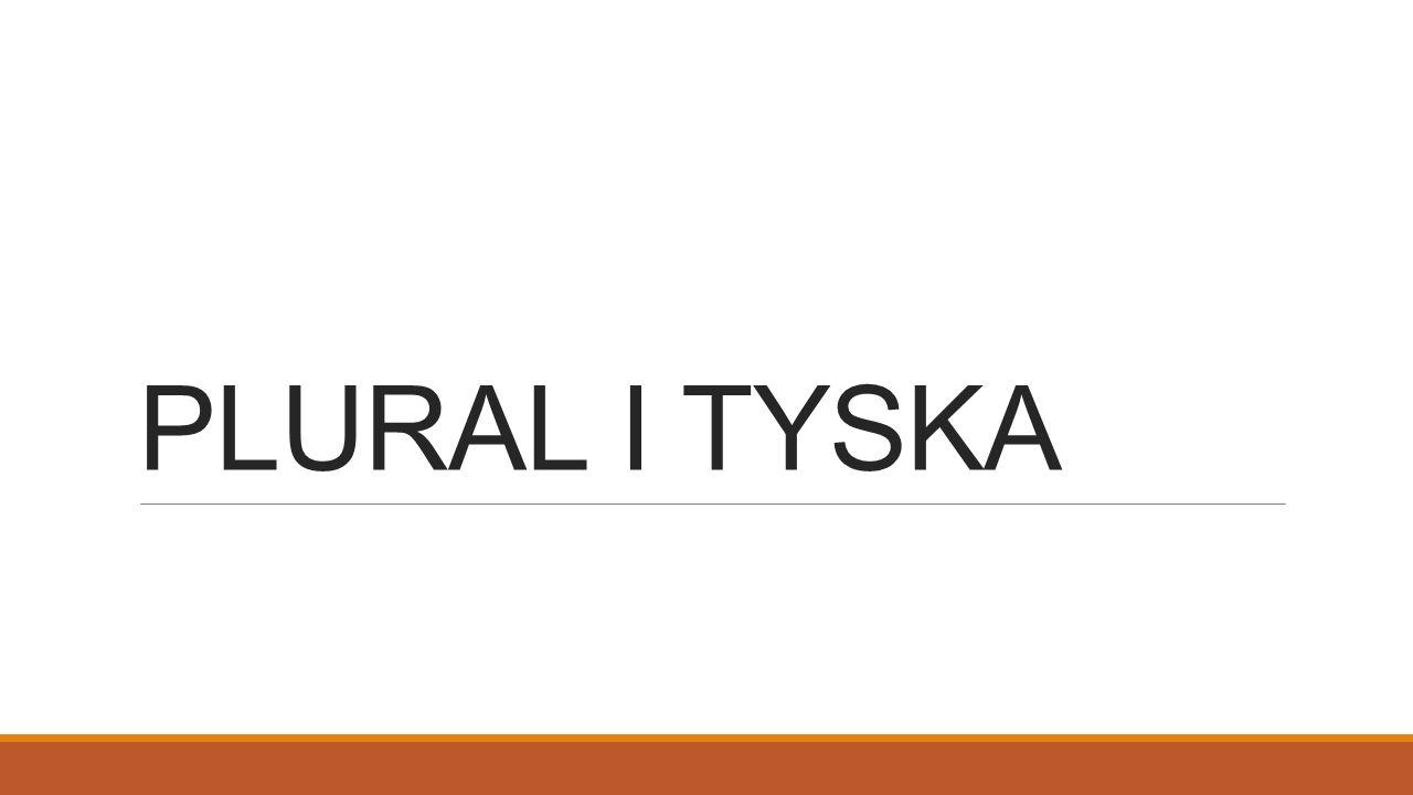 PLURAL I TYSKA