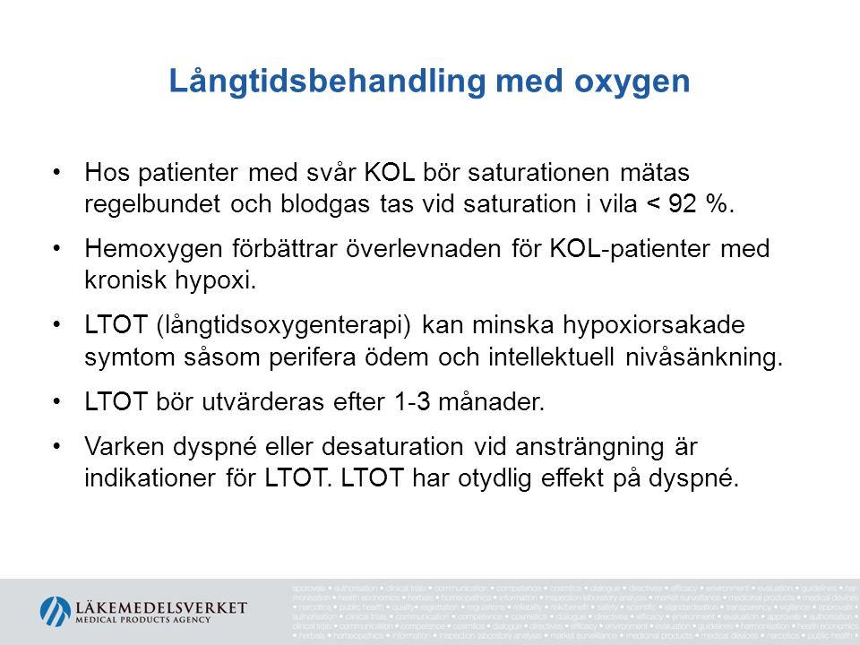 Långtidsbehandling med oxygen