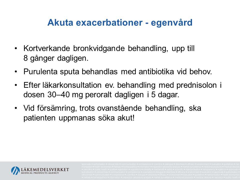 Akuta exacerbationer - egenvård