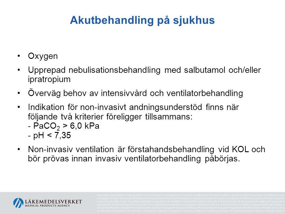 Akutbehandling på sjukhus