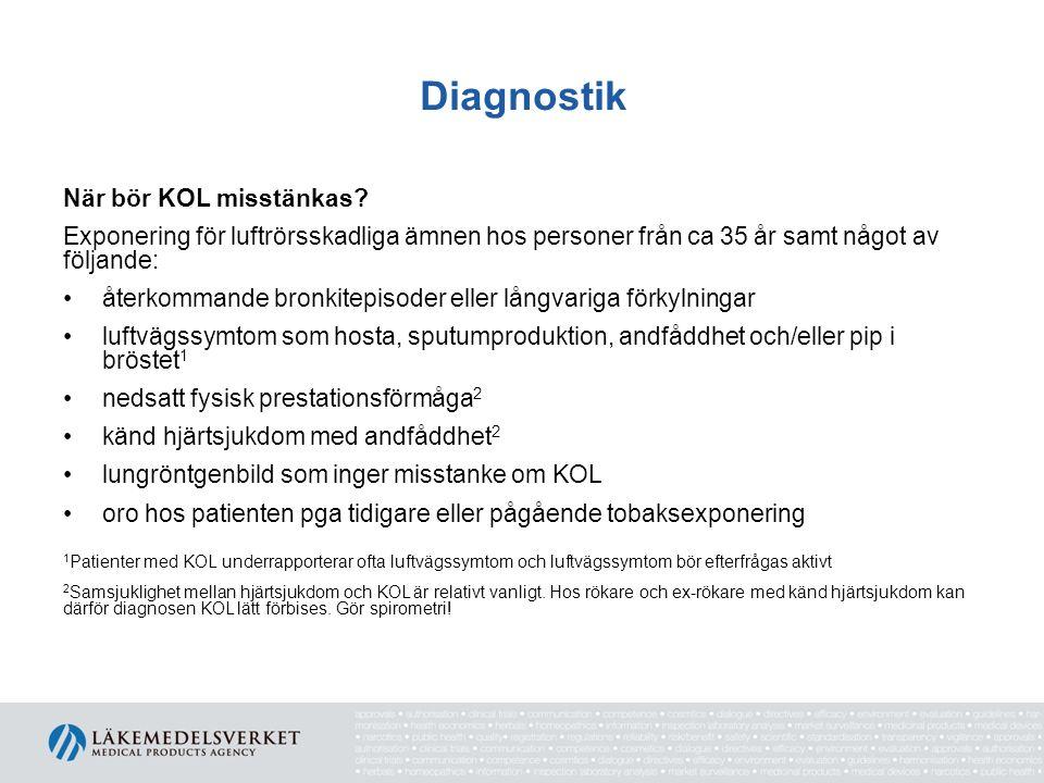 Diagnostik När bör KOL misstänkas