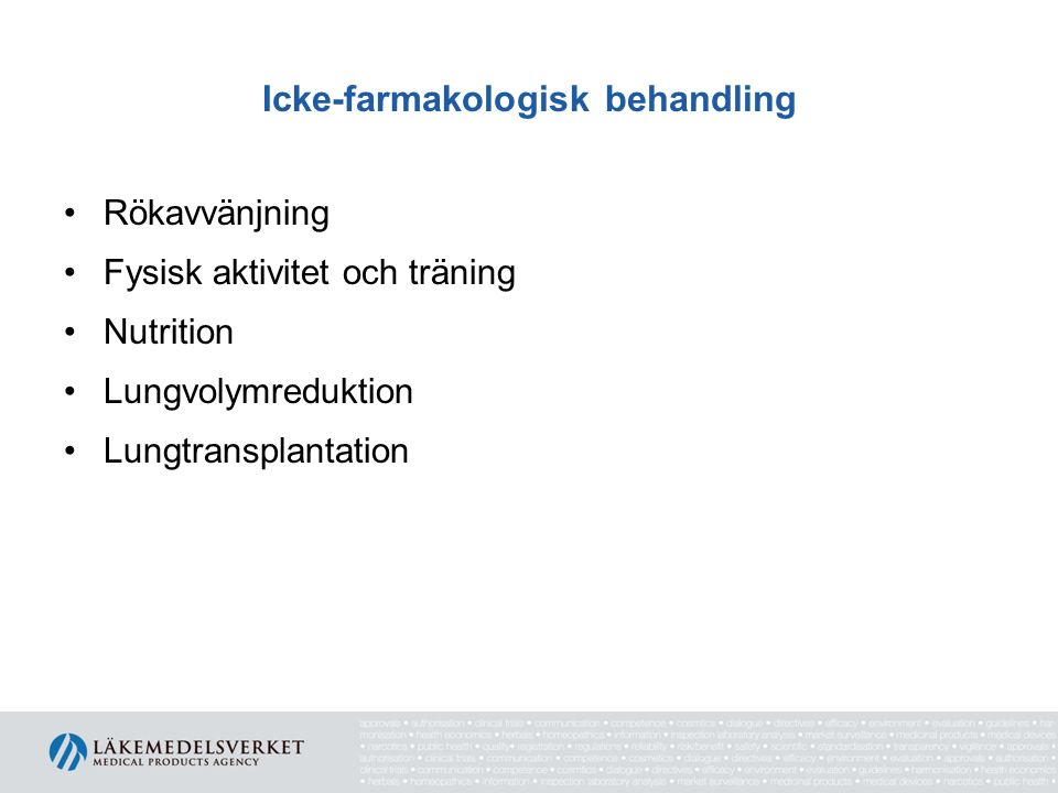 Icke-farmakologisk behandling