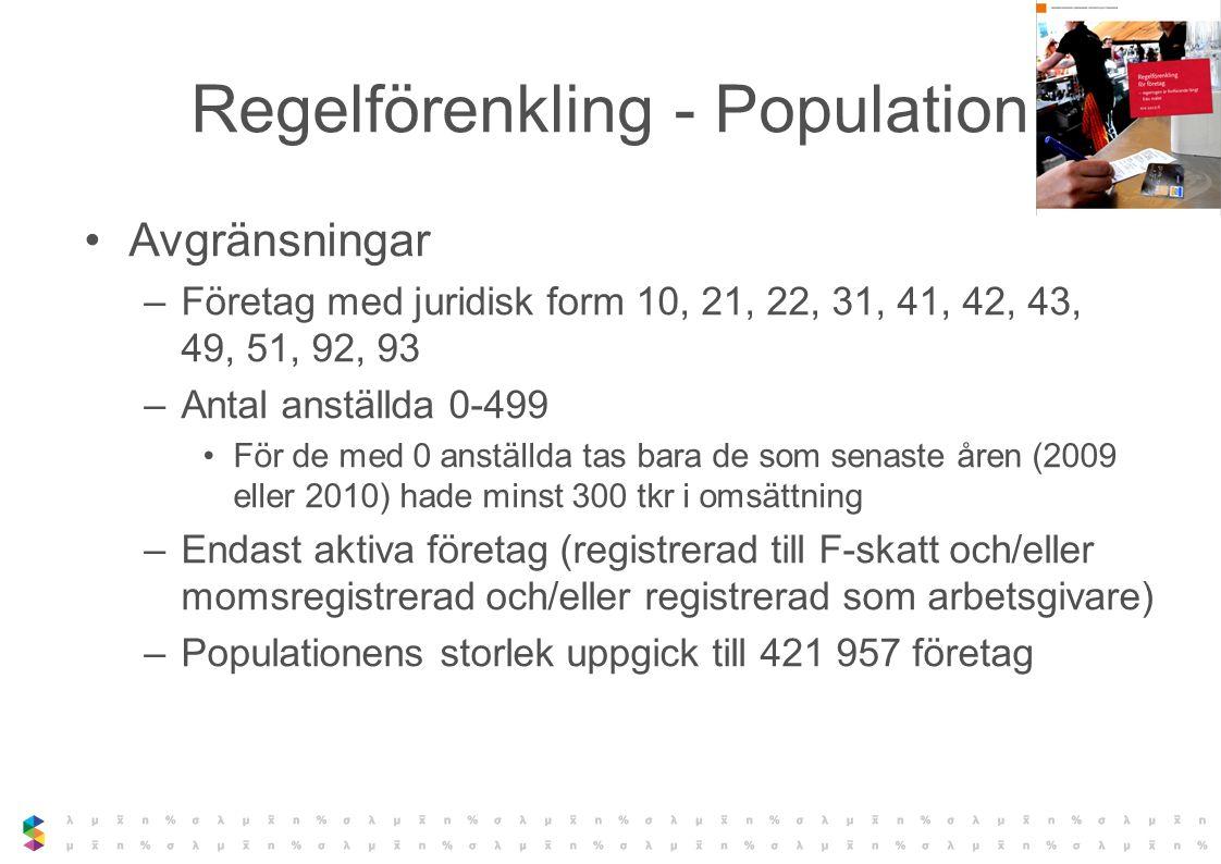 Regelförenkling - Population