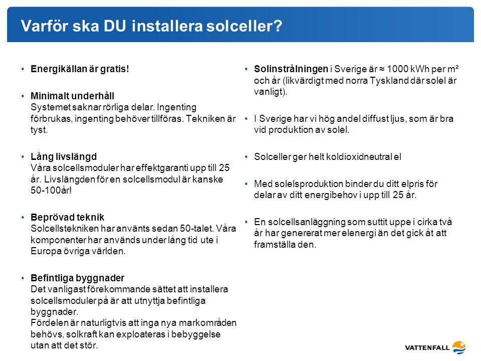 Varför ska DU installera solceller