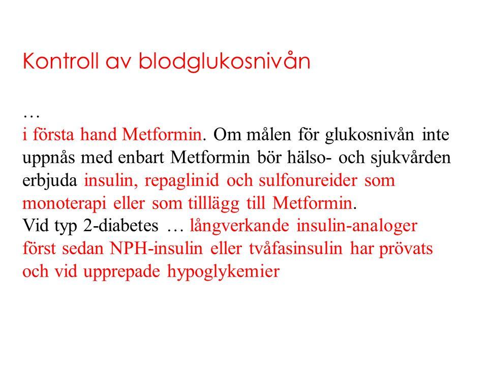 Kontroll av blodglukosnivån