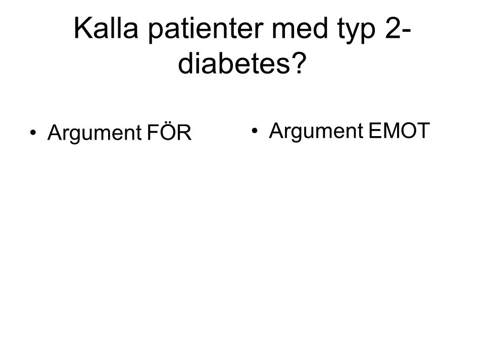 Kalla patienter med typ 2-diabetes