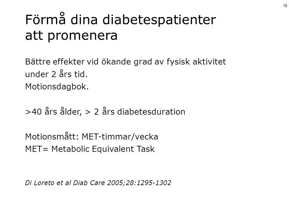 Förmå dina diabetespatienter att promenera