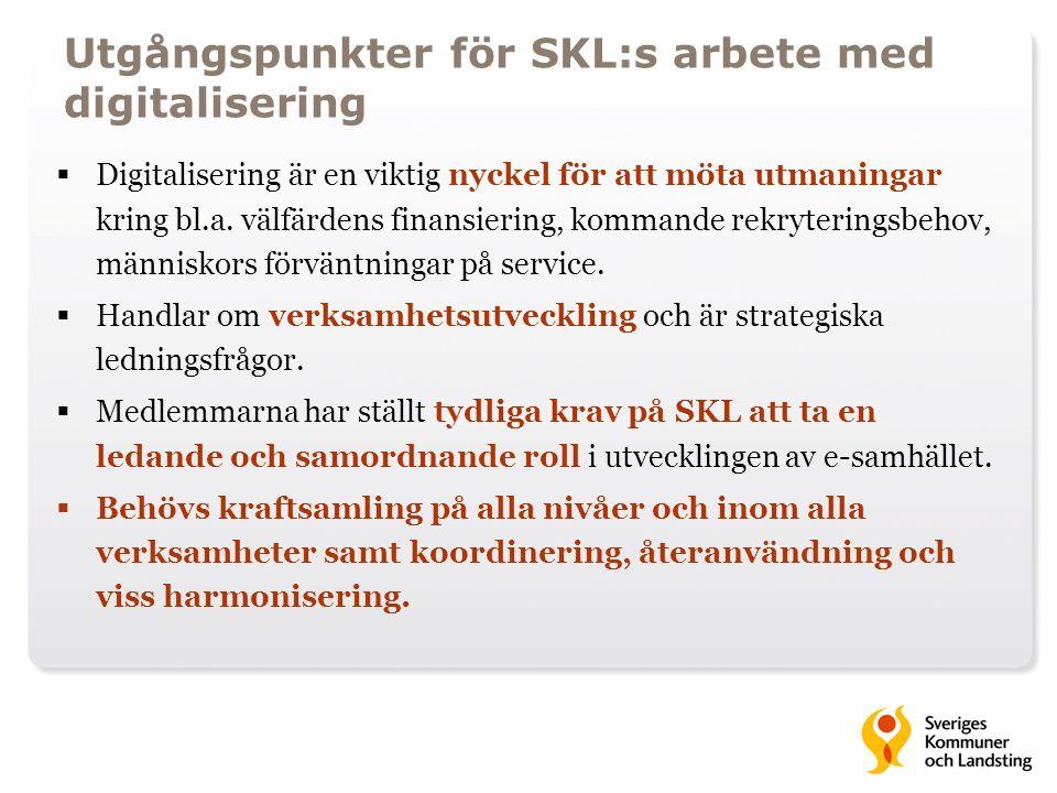 Utgångspunkter för SKL:s arbete med digitalisering