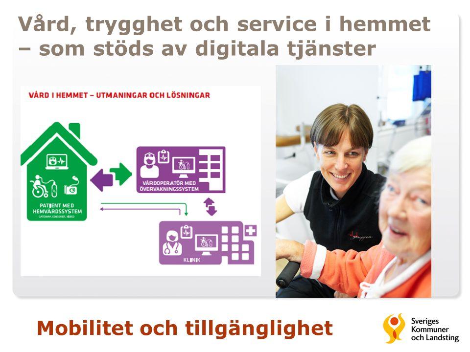 Vård, trygghet och service i hemmet – som stöds av digitala tjänster