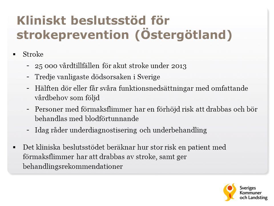 Kliniskt beslutsstöd för strokeprevention (Östergötland)