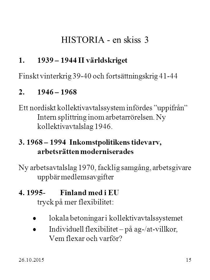 HISTORIA - en skiss 3 1939 – 1944 II världskriget