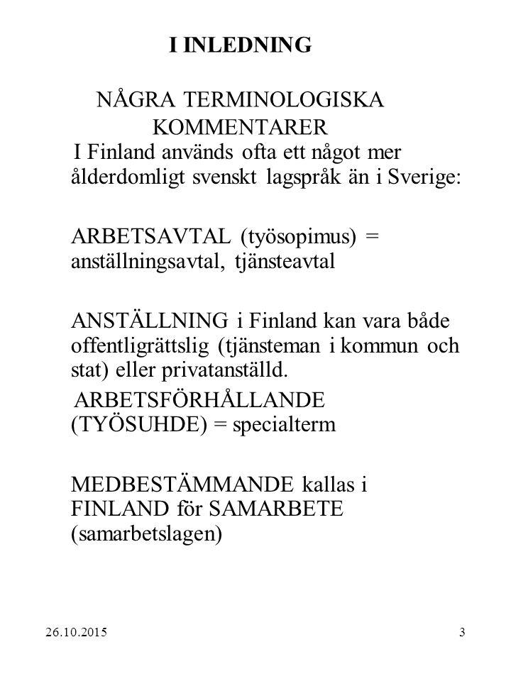 I INLEDNING NÅGRA TERMINOLOGISKA KOMMENTARER