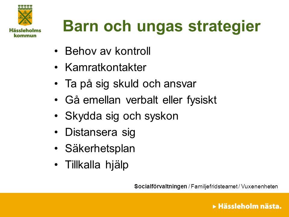 Barn och ungas strategier