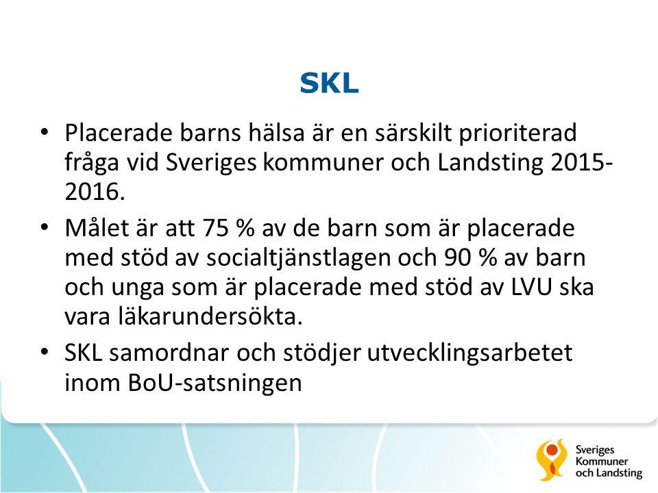 SKL Placerade barns hälsa är en särskilt prioriterad fråga vid Sveriges kommuner och Landsting 2015-2016.