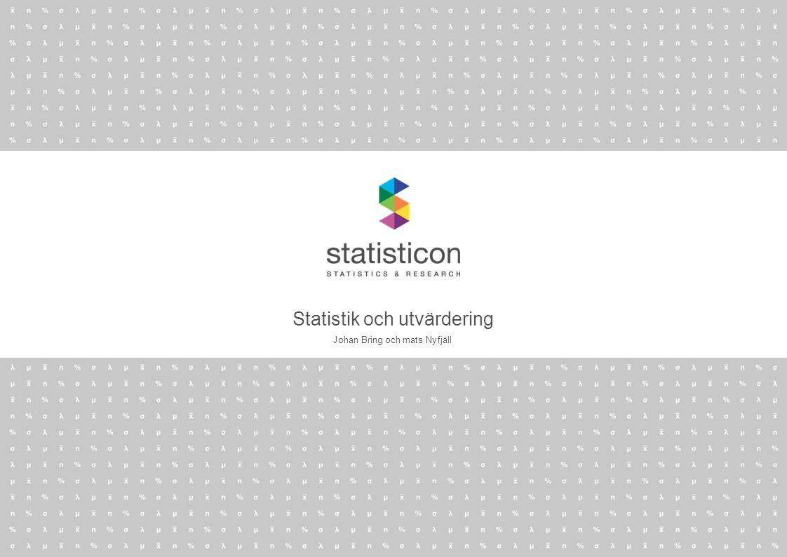 Statistik och utvärdering