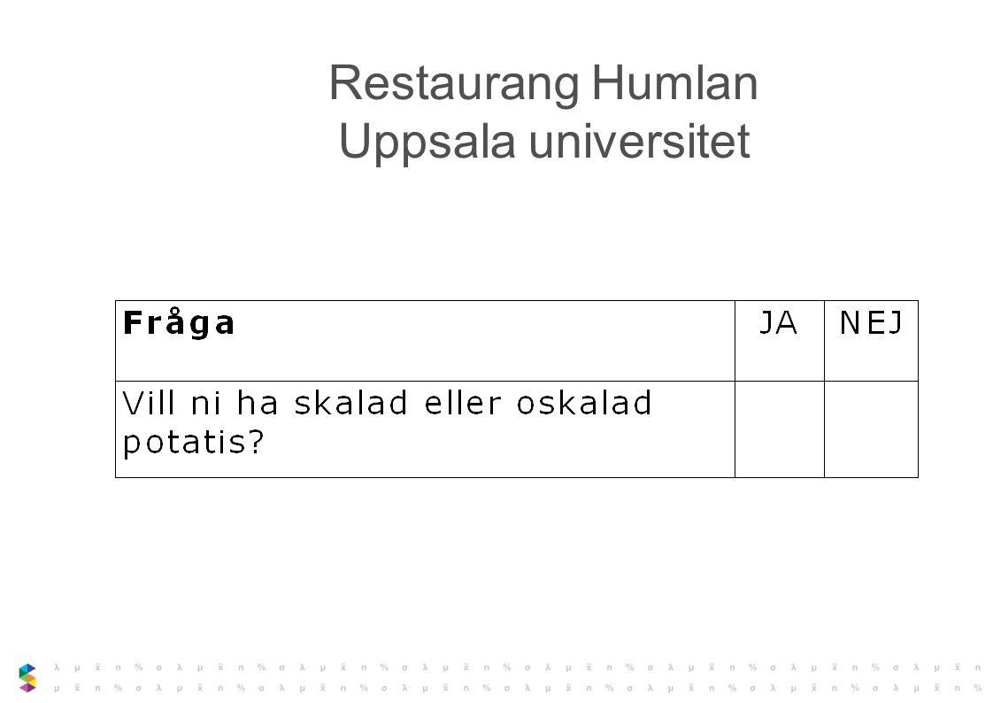 Restaurang Humlan Uppsala universitet