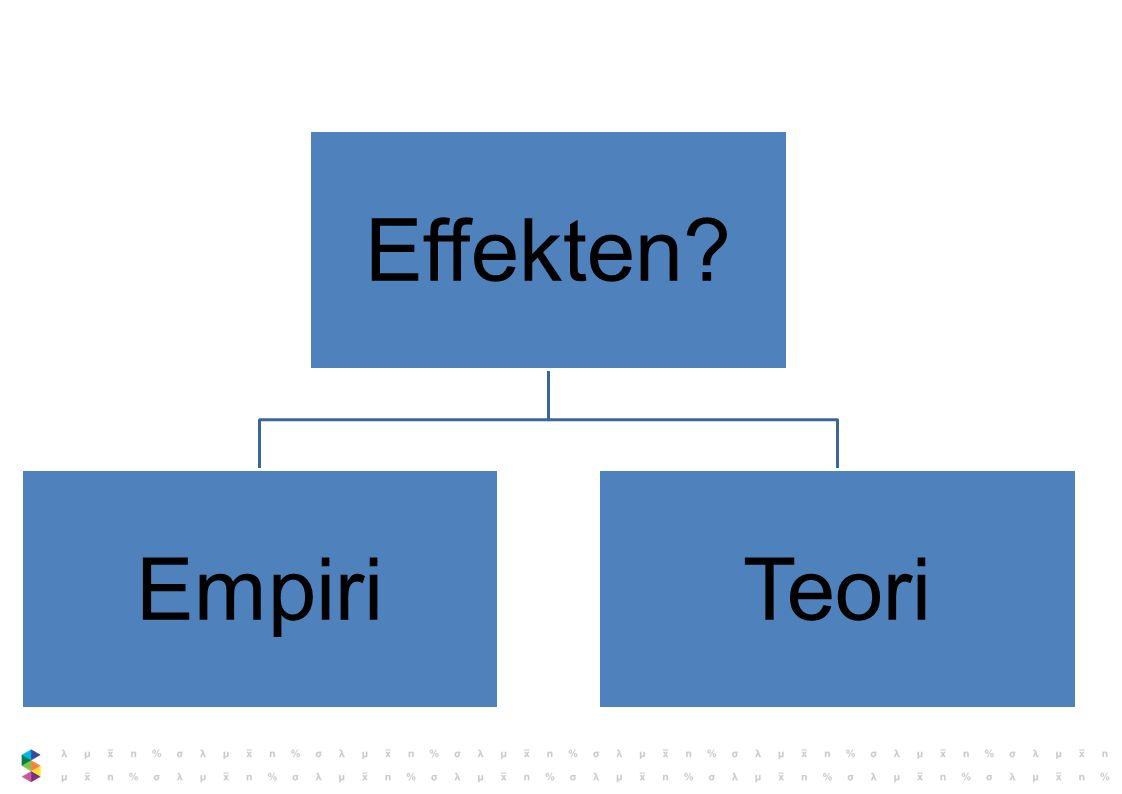 Effekten Empiri Teori