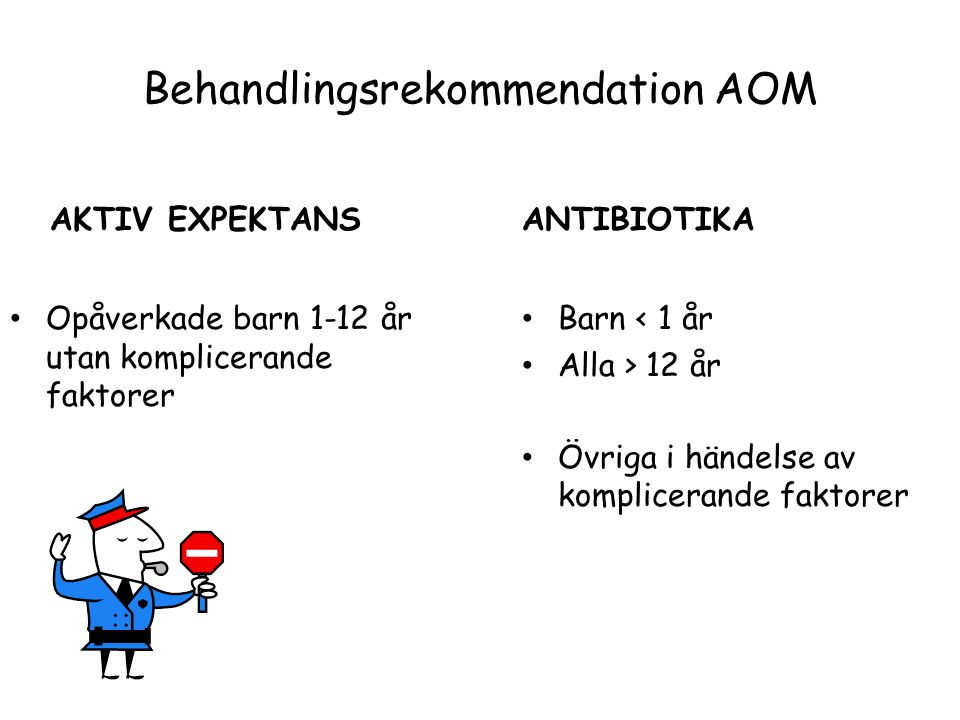 Behandlingsrekommendation AOM