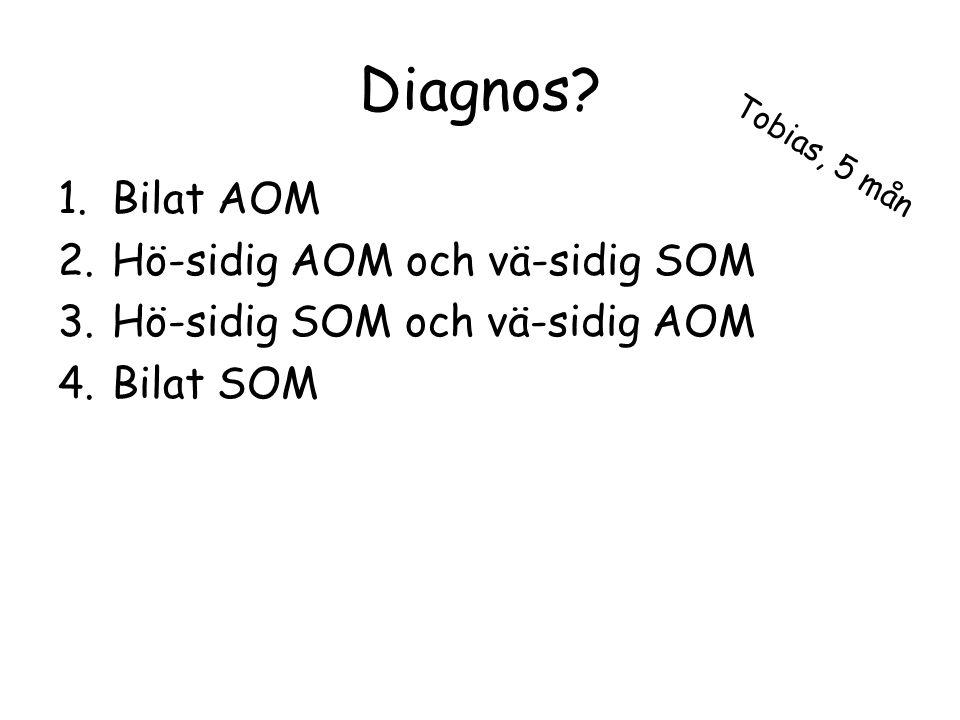 Diagnos Bilat AOM Hö-sidig AOM och vä-sidig SOM