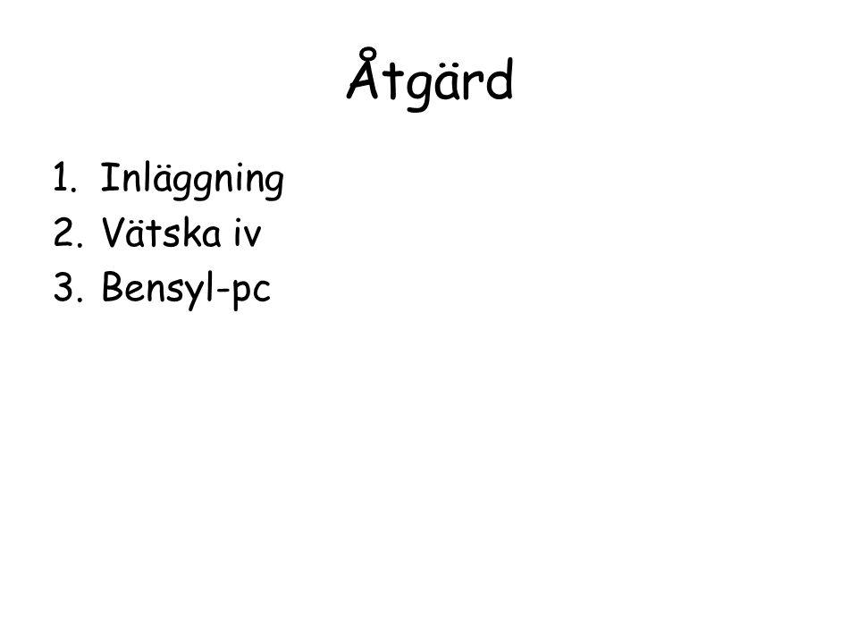 Åtgärd Inläggning Vätska iv Bensyl-pc