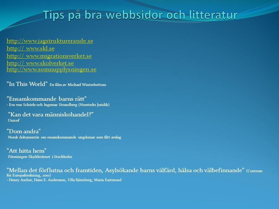 Tips på bra webbsidor och litteratur