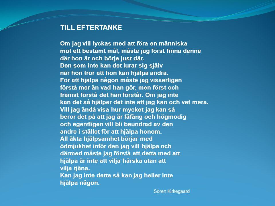TILL EFTERTANKE Sören Kirkegaard