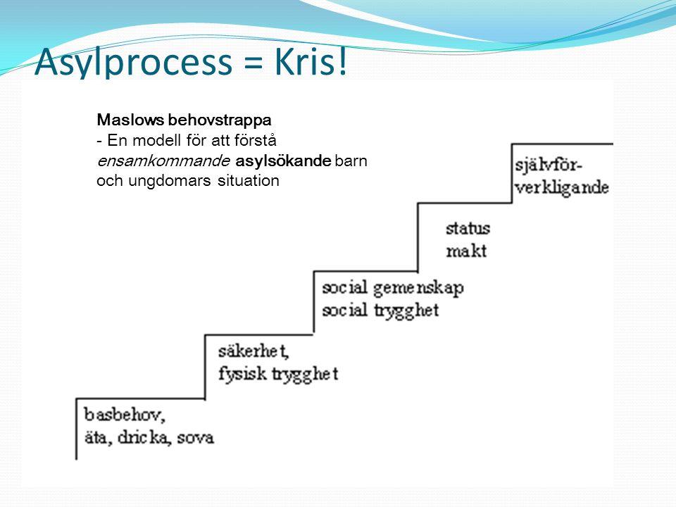 Asylprocess = Kris! Maslows behovstrappa